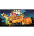 Happy Halloween party zombie background vector image vector image