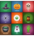 Happy Halloween square banners vector image vector image