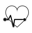 heartbeat cardio symbol vector image vector image