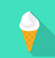 ice cream cone icon flat style vector image vector image