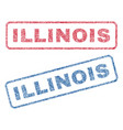 illinois textile stamps vector image vector image