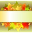leaves text box vector image vector image