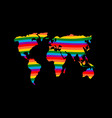 lgbt earth planet mainland and gay flag rainbow vector image