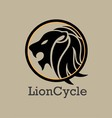 LionCycle Logo vector image vector image