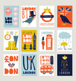 london posters and banners set vector image vector image
