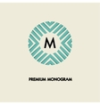 Modern monogram emblem logo Ring of the vector image vector image