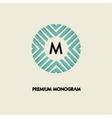 modern monogram emblem logo ring the vector image vector image