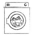 monochrome blurred silhouette of washing machine vector image vector image