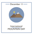 Mountain Day vector image