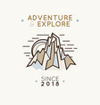 mountain logo emblem concept vector image