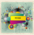 music concept festival banner template vector image vector image