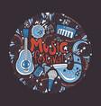 Music festival concept vector image