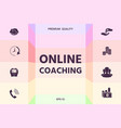 online coaching icon graphic elements for your vector image