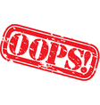 Oops stamp vector image vector image