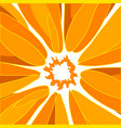 orange poster vector image