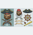 pirate elements for creating mascot and logo vector image