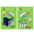 posters start up new business vector image vector image