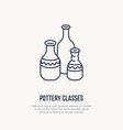 pottery workshop ceramics classes line icon clay vector image