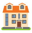 private house with a orange roof vector image
