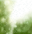 raindrops on the window vector image vector image