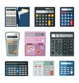 realistic calculators set educational math vector image vector image