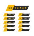 review star rating symbol vector image
