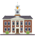 School or university building vector image vector image