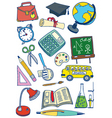 school set vector image vector image