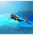 Scuba Diver Girl vector image
