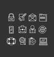 set of basic business icons vector image vector image