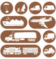 Sketches of cargo delivery logo vector image