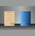 vertical business cards print template personal vector image vector image