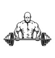 vintage monochrome bodybuilder concept vector image