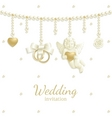 wedding jewel vector image vector image