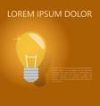 a light bulb the concept of a business idea a vector image