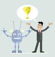 robot champion vector image