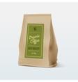Brown Paper Food Bag Package Of Coffee vector image