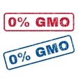 0 Percent GMO Rubber Stamps vector image vector image