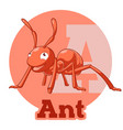 abc cartoon ant vector image vector image