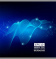 abstract blue lines wave on dark background vector image