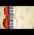 abstract music background from violin and piano vector image vector image