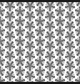 abstract seamless floral pattern with black flower vector image