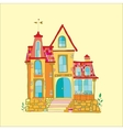 beautiful mansion vector image vector image