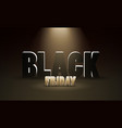 black friday sale dark background with spotlight vector image