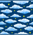 cartoon color clouds seamless pattern vector image vector image
