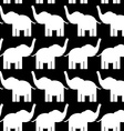 Cheerful seamless pattern with elephants black and vector image vector image