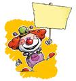 Clown Hoding Plackard vector image vector image