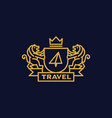 coat arms travel vector image vector image