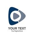 creative abstract media play button logo design vector image