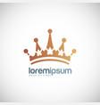 crown logo vector image vector image